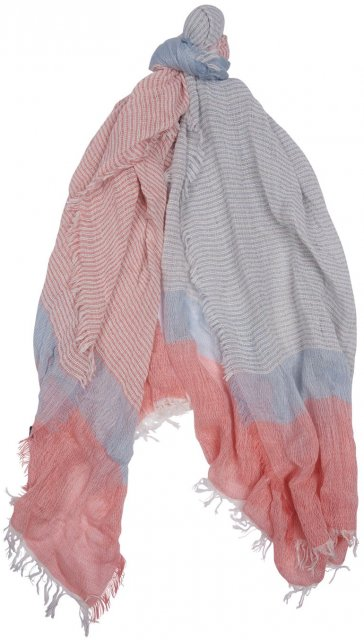 Barbour Two Tone Blue and Pink Stripe Wrap