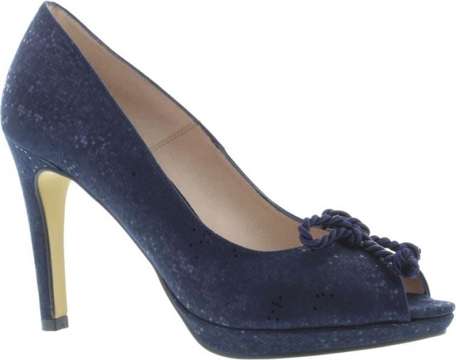 Cappolini Raelyn Navy Bow Shoe