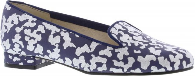 Cappolini Athena Navy and Silver Pump